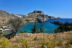 Het eiland van Griekenland, Rhodos Stock Afbeelding