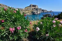 Het eiland van Griekenland, Rhodos Stock Foto's