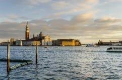 Het eiland van heilige george bij zonsondergang royalty-vrije stock foto