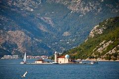 Het eiland van heilige George, Montenegro Stock Foto