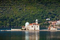 Het eiland van heilige George, Montenegro Stock Fotografie