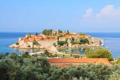 Het eiland van heilige Stefan royalty-vrije stock fotografie
