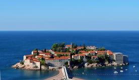 Het eiland van heilige Stefan, Montenegro Stock Foto's