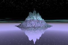 Het eiland van het ijs Royalty-vrije Stock Foto's
