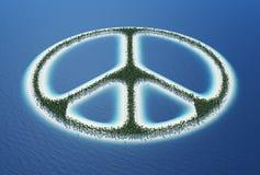 Het eiland van het vredesteken Royalty-vrije Stock Afbeelding
