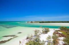 Het eiland van Holbox in Mexico Stock Afbeelding