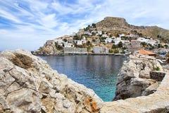 Het Eiland van Hydra in Griekenland Stock Foto's