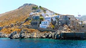 Het Eiland van Hydra in Griekenland stock foto