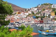 Het Eiland van Hydra in Griekenland royalty-vrije stock afbeelding