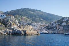 Het Eiland van Hydra, Griekenland stock foto