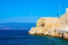 Het Eiland van Hydra Griekenland in saronikos stock foto's