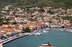 Het eiland van Ithaki in Griekenland Stock Foto