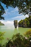 Het Eiland van James Bond of het Eiland van Khao Tapu Royalty-vrije Stock Foto