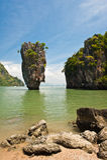 Het Eiland van James Bond of het Eiland van Khao Tapu Stock Fotografie
