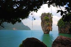 Het Eiland van James Bond (Koh Tapoo) Stock Foto