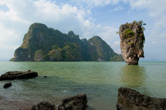 Het Eiland van James Bond, Phang Nga, Thailand Royalty-vrije Stock Foto's