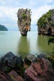 Het Eiland van James Bond, Phang Nga, Thailand Stock Afbeeldingen