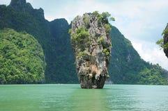 Het eiland van James Bond in Thailand Stock Foto