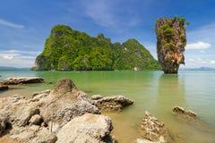 Het Eiland van James Bond in Thailand Stock Fotografie