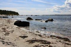 Het eiland van Jomfruland in Zuid-Noorwegen. Stock Afbeeldingen