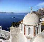 Het Eiland van kerksantorini, Reis Griekenland Stock Foto