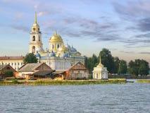 Het Eiland van kloosterstolobny Seliger Rusland stock foto's