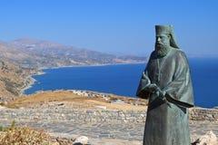 Het eiland van Kreta in Griekenland. Het gebied van Preveli Stock Foto