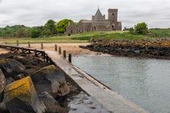 Het Eiland van landen-stadiuminchcolm in Firth van vooruit dichtbij Schots Edinburgh stock foto