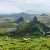 Het eiland van landschapsschotland van Skye Stock Afbeelding