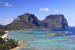 Het eiland van Lord howe stock afbeeldingen