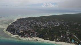 Het eiland van luchtfotografiezanzibar stock video
