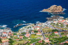 Het eiland van madera, Portugal Porto Moniz Royalty-vrije Stock Fotografie