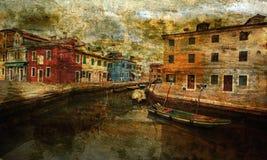 Het eiland van Murano, dichtbij Venetië Stock Foto