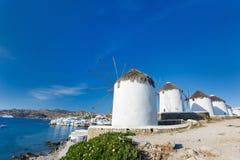 Het eiland van Mykonos Stock Foto
