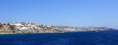 Het eiland van Mykonos Stock Foto's