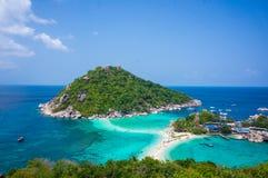 Het eiland van Nangyuans, Thailand Stock Afbeelding