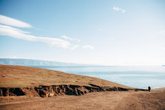 Het eiland van Olkhon op meer Baikal Stock Afbeelding