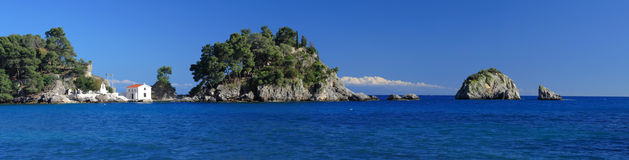 Het eiland van Panagias in Parga Griekenland Royalty-vrije Stock Foto
