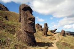 Het eiland van Pasen Stock Afbeeldingen