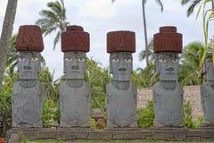 Het Eiland van Pasen -, hoofd van één enkele moai Stock Foto