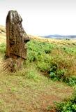 Het Eiland van Pasen van Moai- stock afbeeldingen