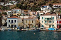 Het eiland van Poros stock foto