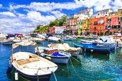 Het eiland van Procida, Italië royalty-vrije stock afbeeldingen