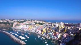 Het eiland van Procida, Italië stock video