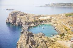 Het eiland van Rhodos stock foto's