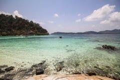 Het eiland van Rokroy, Koh Rok Roy, Satun, Thailand Stock Afbeeldingen