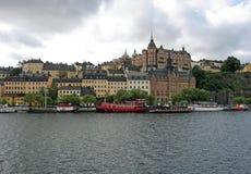 Het eiland van Södermalm in Stockholm, Zweden Stock Foto's