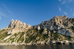 Het eiland van S Vedra, Ibiza royalty-vrije stock afbeeldingen