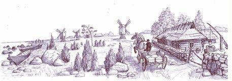 Het eiland van Saaremaa, Estland stock illustratie