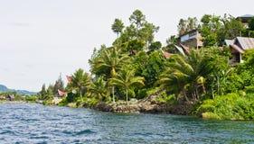 Het eiland van Samosir in Meer Toba, Sumatra Royalty-vrije Stock Fotografie